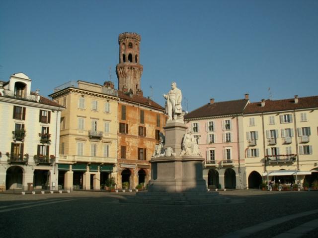 Una tappa della Via Francigena a Vercelli