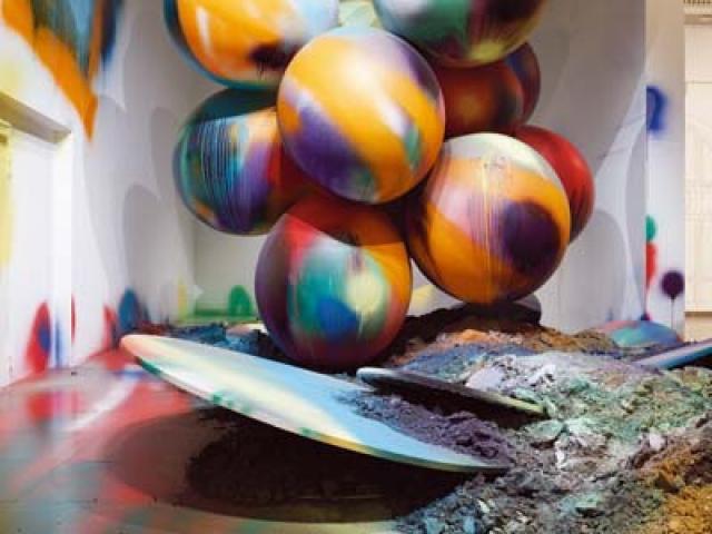 Katharina Grosse: Trionfo di colore