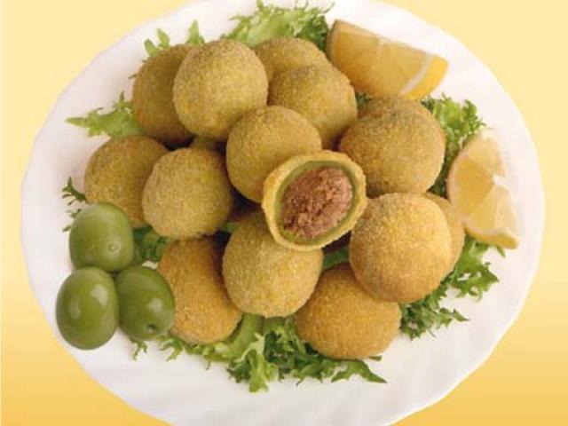 Olive ascolane regine in tavola