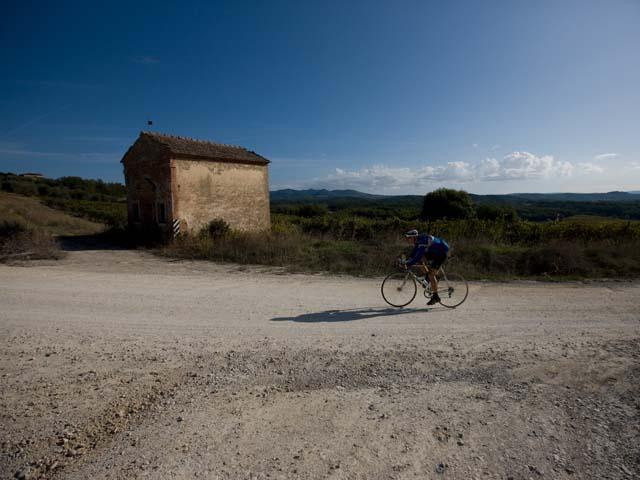 E' eroico andare in bici nel Chianti