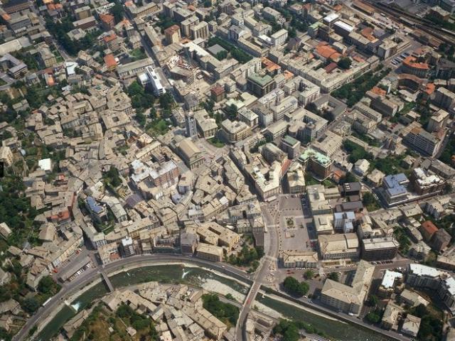 La cinta muraria di Sondrio