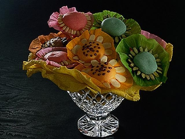 Bouquet di marzapane