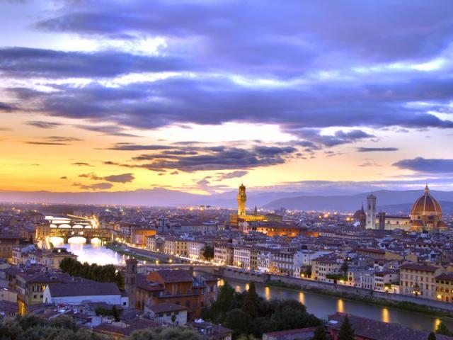 Panorama di sera - Firenze