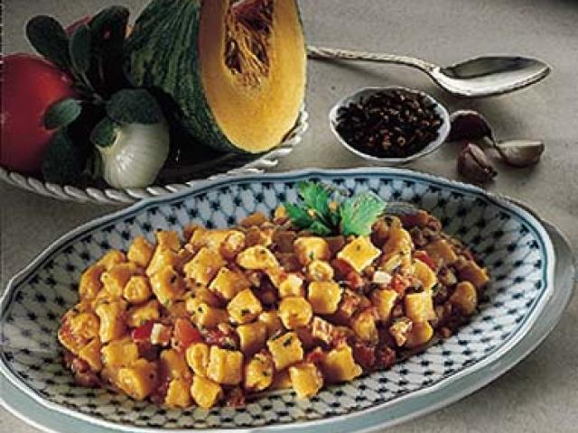 Gnocchetti di patate e zucca con ragù di lepre