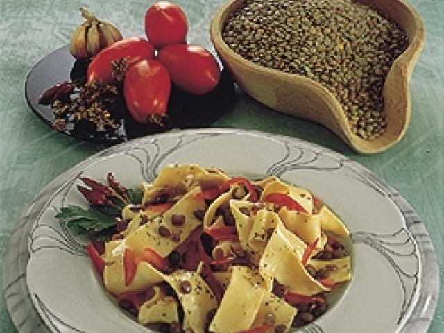 Sagne e lenticchie