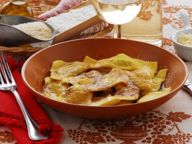 Casoncelli rustici con melanzane e formaggio di capra della Valle Sabbia