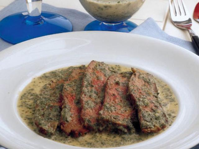 Lingua in salsa giardina