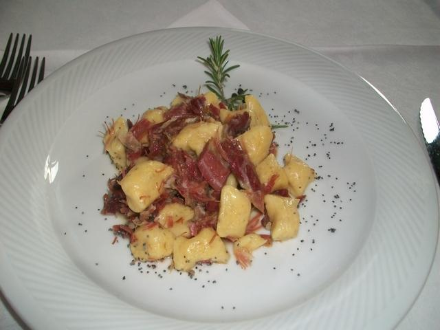 Gnocchi di polenta al prosciutto della Paletta di Coggiola