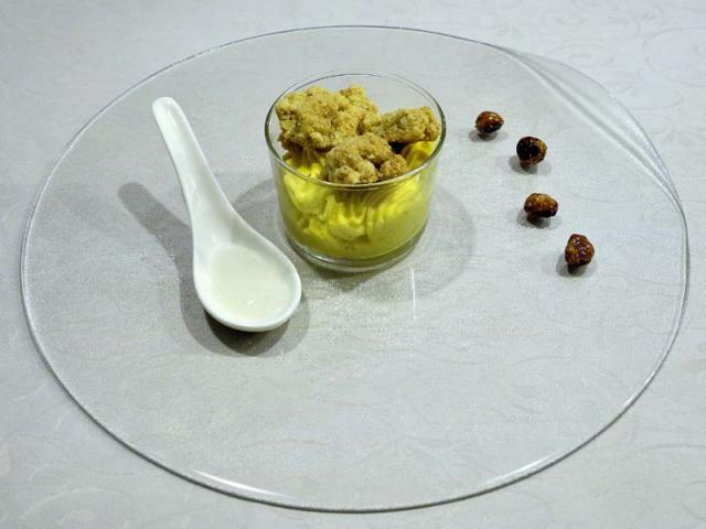 Biscotto sbrisolone con crema al mascarpone e gelatina di grappa