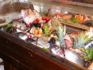 Vetrina pesce fresco