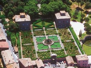 ristorante Casino di Caccia di Villa Lante- vista aerea
