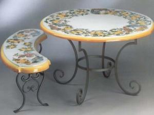 Maiolica Toscana - Tavolo fatto a mano