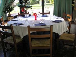 Tavolo tondo in veranda