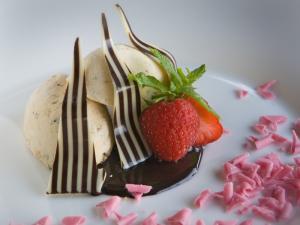 Dessert con gelato