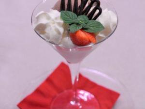 Coppetta di gelato fior di panna