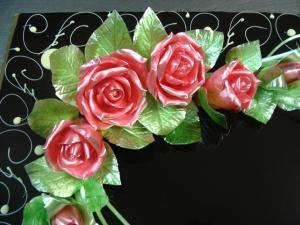 Decorazioni fiori di zucchero tirato