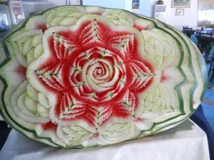 Melone decorato