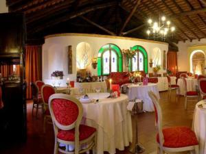 La sala ristorante del Hotel Castello San Marco