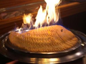 Spigola al sale in crosta