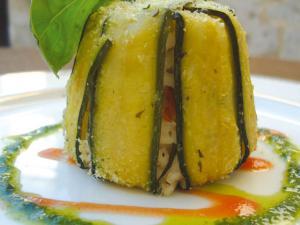 Taieddhra con riso.zucchine,carciofi e cozze.