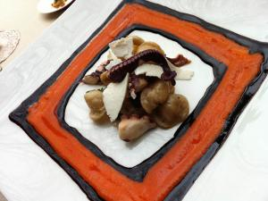 Orecchette con polpo e ricotta salata