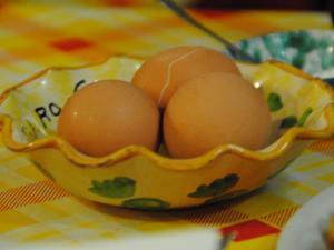 Uovo sodo simbolo di accoglienza