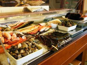 Esposizione pesce fresco