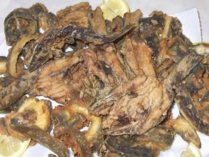Anguille e pescegatti fritti