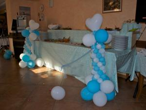 La sala allestita per matrimoni